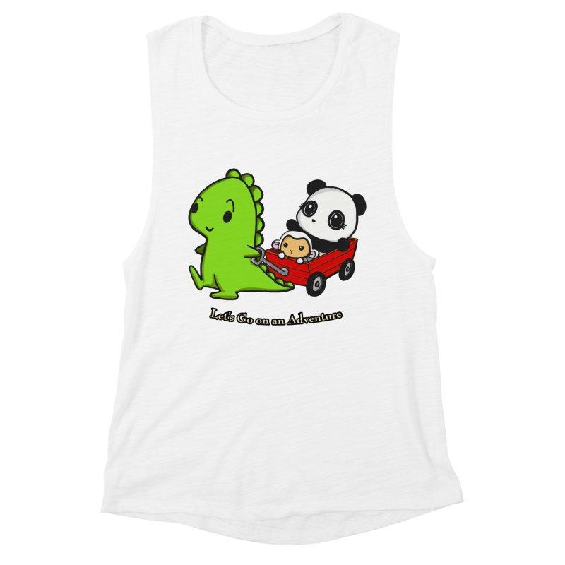 Wagon Ride Women's Muscle Tank by Dino & Panda Inc Artist Shop