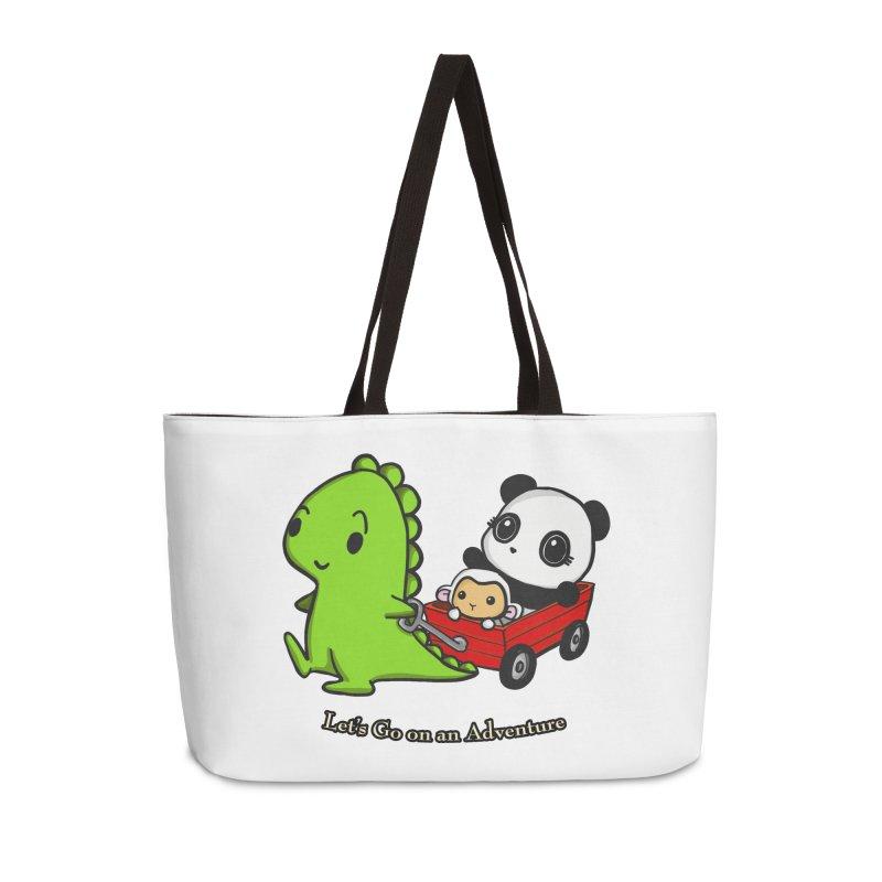 Wagon Ride Accessories Weekender Bag Bag by Dino & Panda Inc Artist Shop