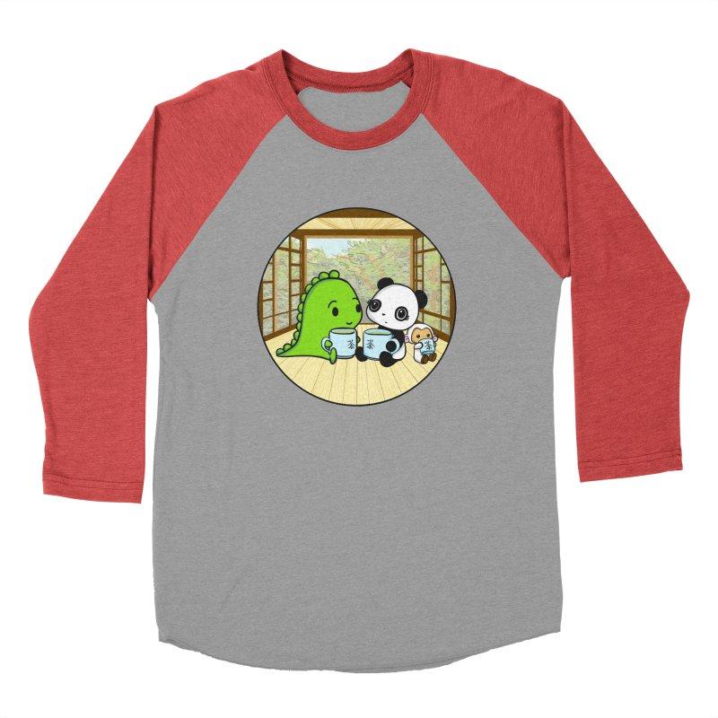 Japanese Tea House Men's Longsleeve T-Shirt by Dino & Panda Artist Shop