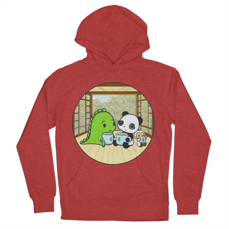 Japanese Tea House Men's French Terry Pullover Hoody by Dino & Panda Inc Artist Shop