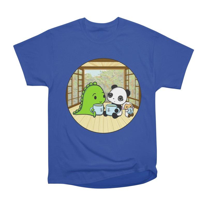 Japanese Tea House Women's Heavyweight Unisex T-Shirt by Dino & Panda Inc Artist Shop