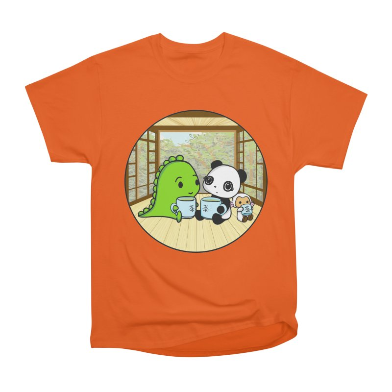 Japanese Tea House Men's Heavyweight T-Shirt by Dino & Panda Inc Artist Shop