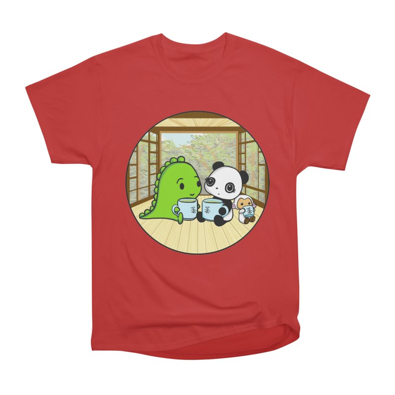 Japanese Tea House Women's Heavyweight Unisex T-Shirt by Dino & Panda Inc Artist Shop