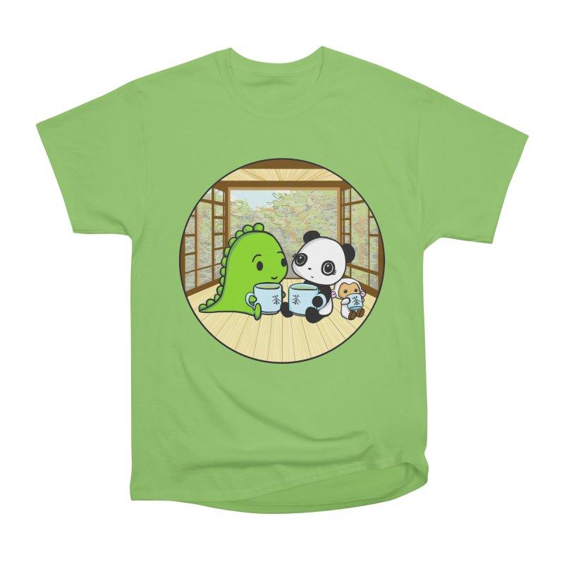Japanese Tea House Men's Heavyweight T-Shirt by Dino & Panda Inc Artist Shop