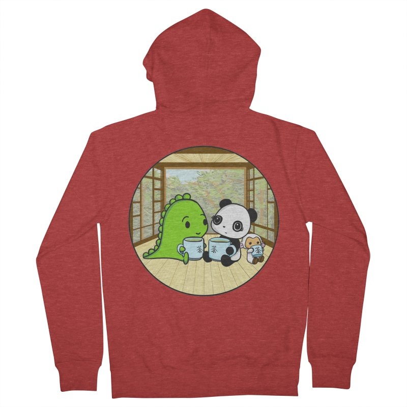 Japanese Tea House Women's Zip-Up Hoody by Dino & Panda Inc Artist Shop