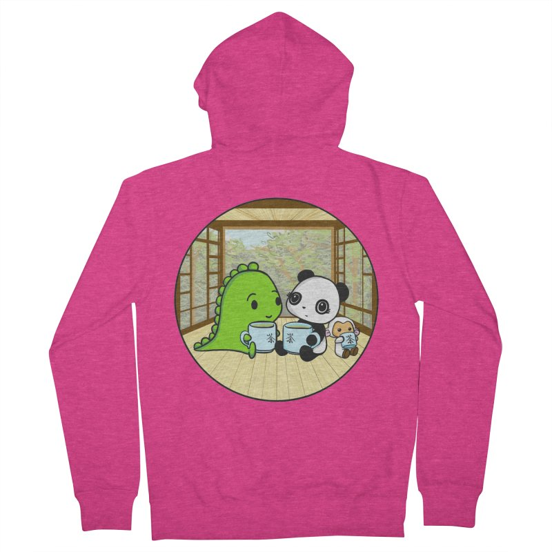 Japanese Tea House Women's French Terry Zip-Up Hoody by Dino & Panda Inc Artist Shop