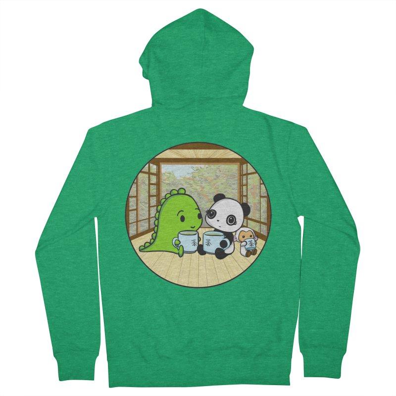 Japanese Tea House Men's French Terry Zip-Up Hoody by Dino & Panda Inc Artist Shop