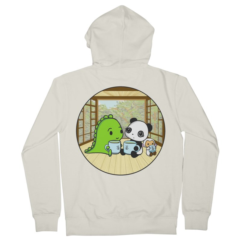Japanese Tea House Men's French Terry Zip-Up Hoody by Dino & Panda Inc Artist Shop