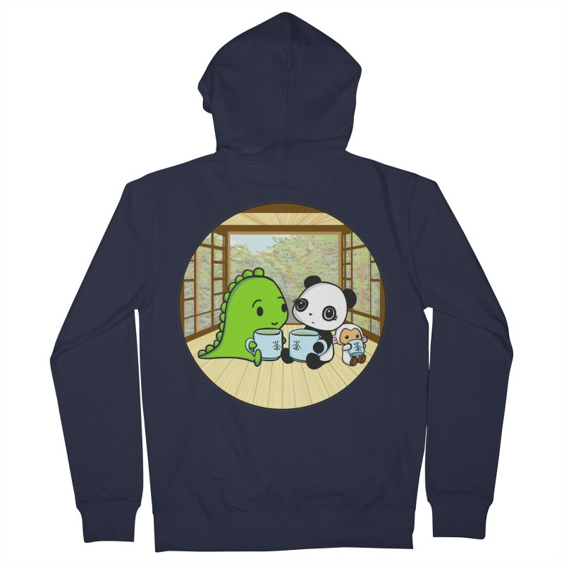 Japanese Tea House Men's Zip-Up Hoody by Dino & Panda Inc Artist Shop