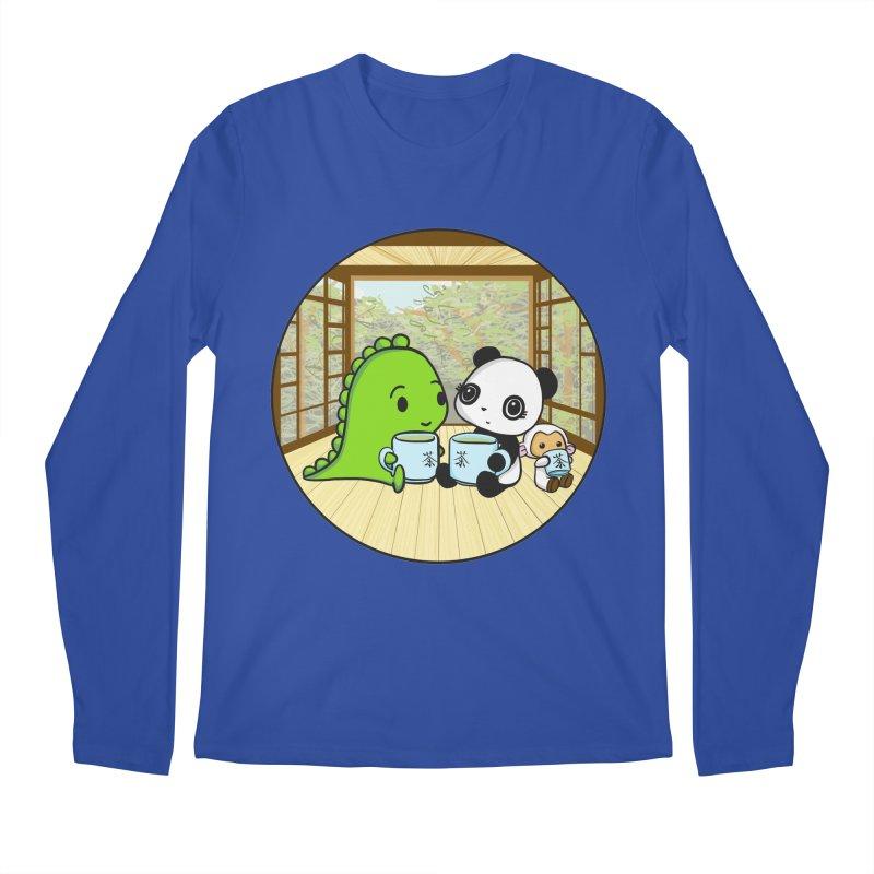 Japanese Tea House Men's Regular Longsleeve T-Shirt by Dino & Panda Inc Artist Shop
