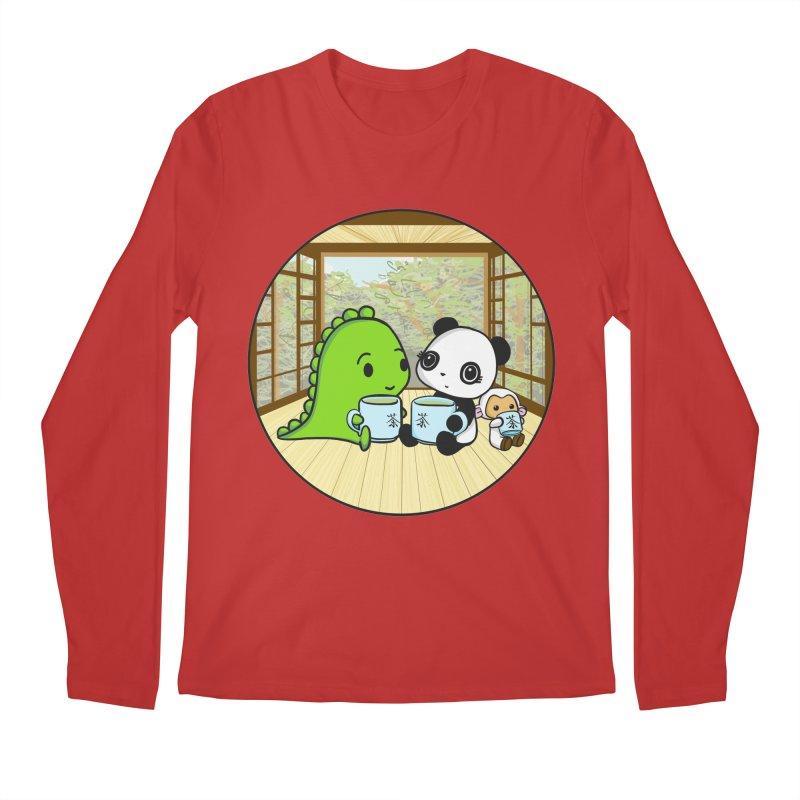 Japanese Tea House Men's Longsleeve T-Shirt by Dino & Panda Inc Artist Shop