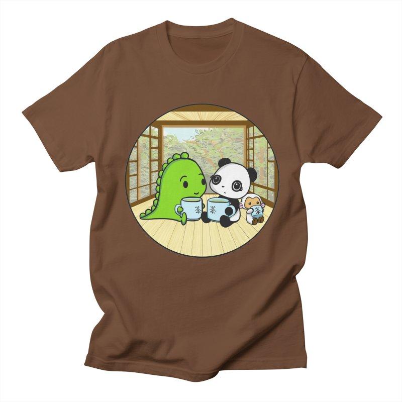 Japanese Tea House Men's T-Shirt by Dino & Panda Inc Artist Shop