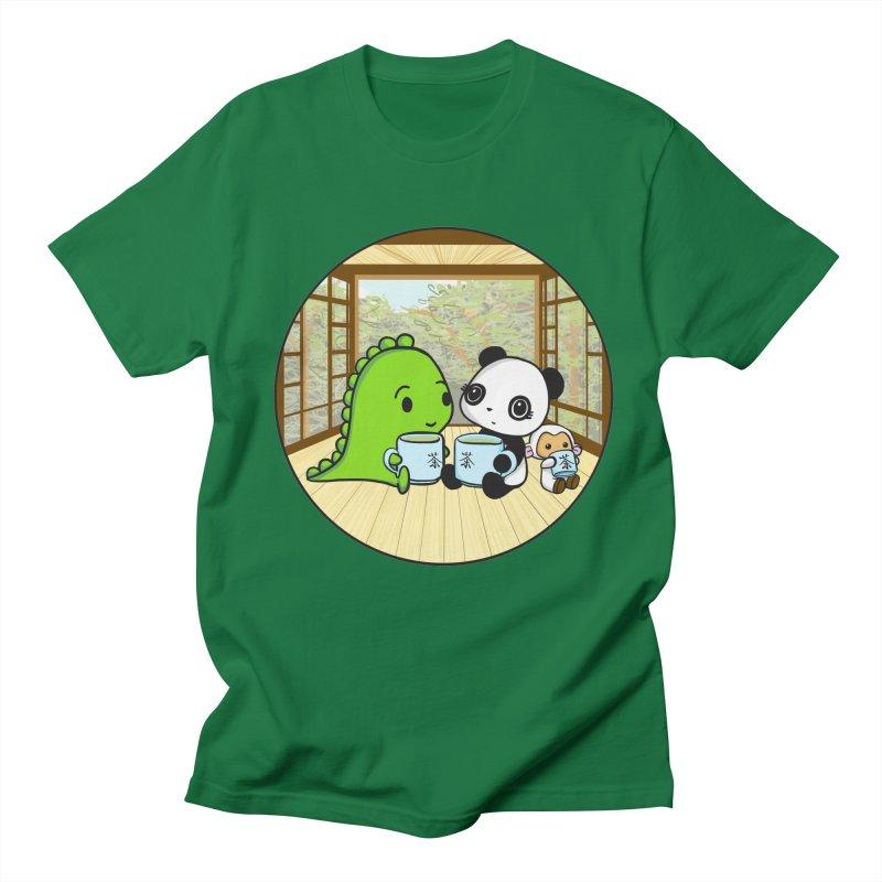 Japanese Tea House Women's Regular Unisex T-Shirt by Dino & Panda Inc Artist Shop