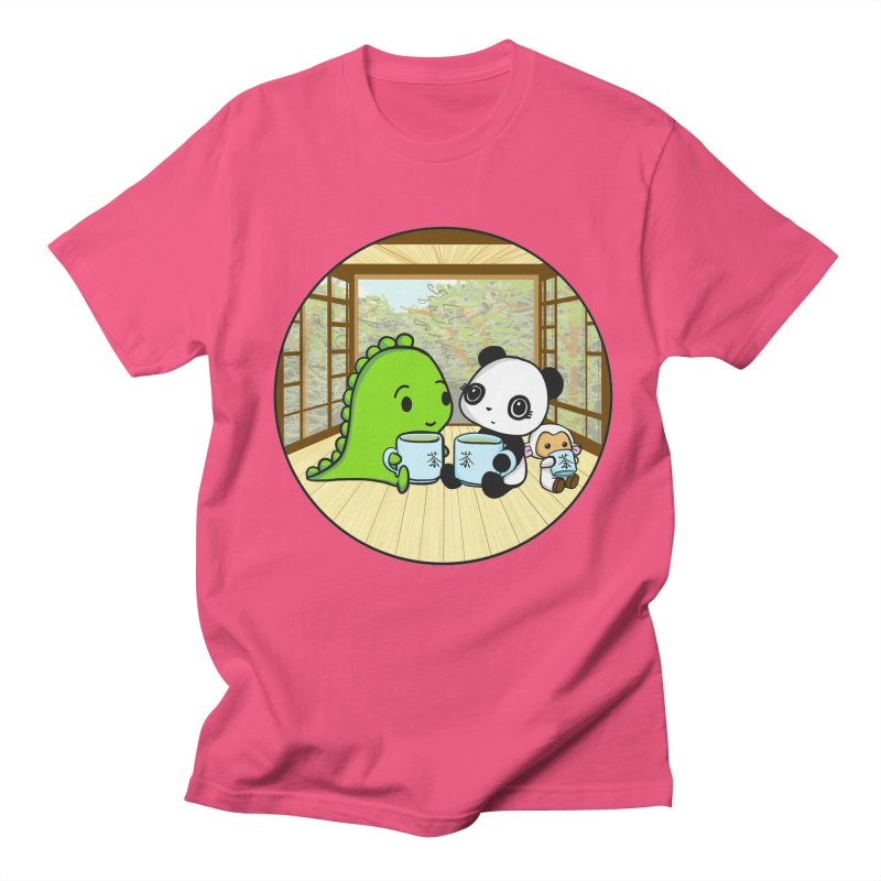 Japanese Tea House Men's Regular T-Shirt by Dino & Panda Inc Artist Shop