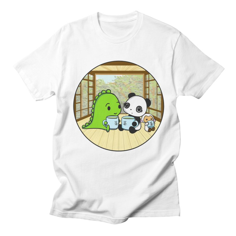 Japanese Tea House Women's Regular Unisex T-Shirt by Dino & Panda Inc Artist Shop
