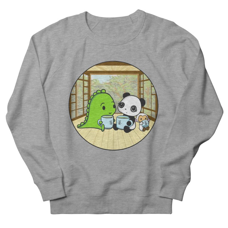 Japanese Tea House Women's French Terry Sweatshirt by Dino & Panda Inc Artist Shop