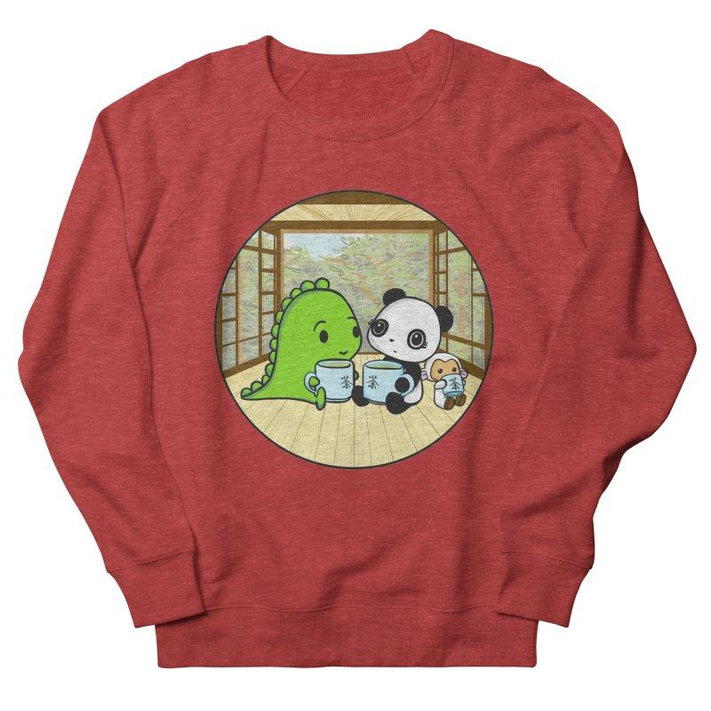 Japanese Tea House Women's French Terry Sweatshirt by Dino & Panda Inc Artist Shop