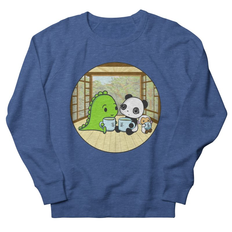 Japanese Tea House Men's French Terry Sweatshirt by Dino & Panda Inc Artist Shop