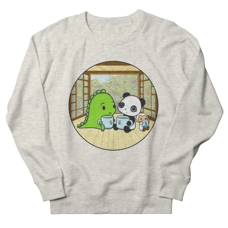 Japanese Tea House Men's French Terry Sweatshirt by Dino & Panda Inc Artist Shop