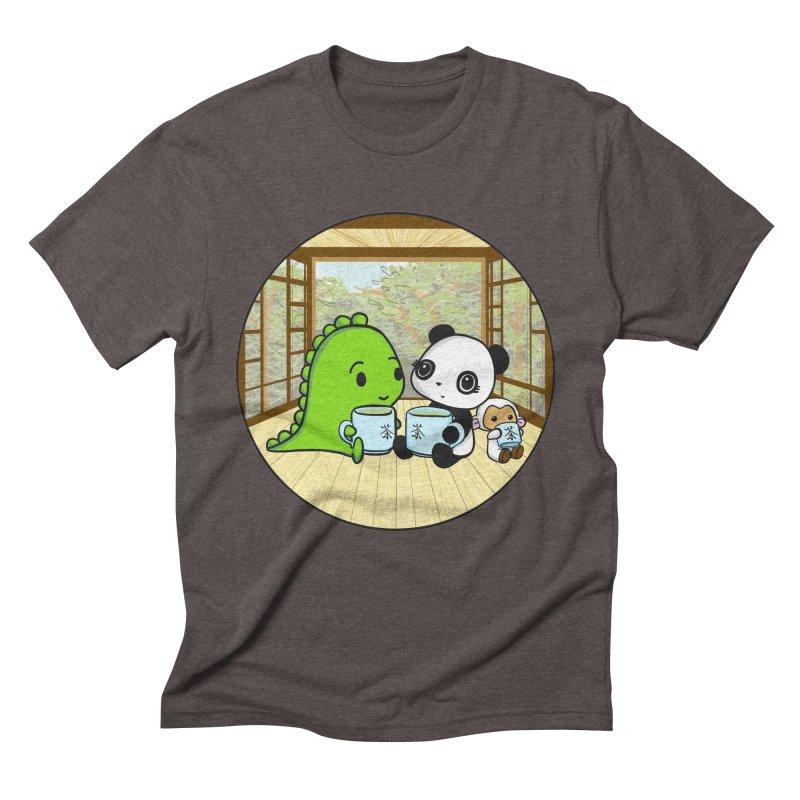 Japanese Tea House Men's Triblend T-Shirt by Dino & Panda Inc Artist Shop