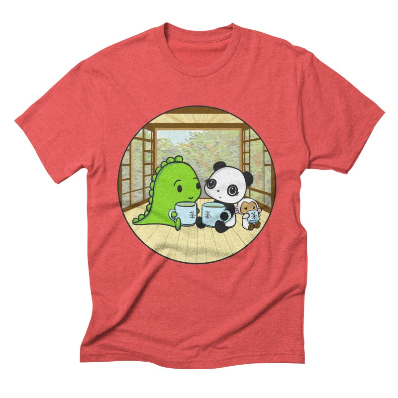 Japanese Tea House Men's Triblend T-Shirt by Dino & Panda Inc Artist Shop
