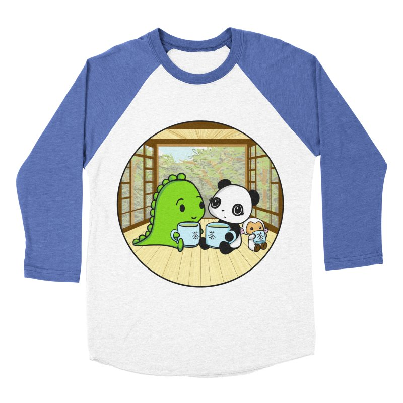 Japanese Tea House Women's Baseball Triblend Longsleeve T-Shirt by Dino & Panda Inc Artist Shop