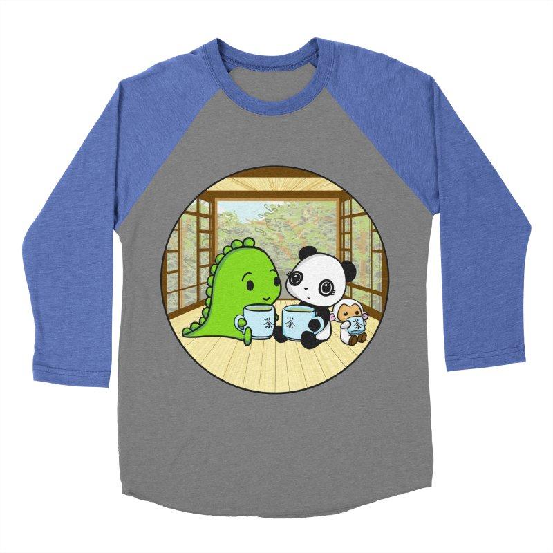 Japanese Tea House Women's Baseball Triblend Longsleeve T-Shirt by Dino & Panda Inc Artist Shop