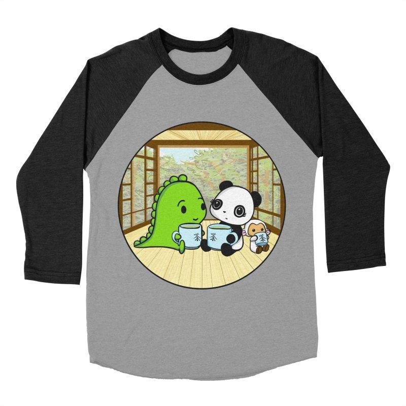 Japanese Tea House Men's Baseball Triblend T-Shirt by Dino & Panda Inc Artist Shop