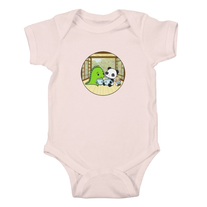 Japanese Tea House Kids Baby Bodysuit by Dino & Panda Inc Artist Shop
