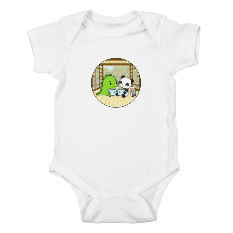 Japanese Tea House Kids Baby Bodysuit by Dino & Panda Inc Artist Shop