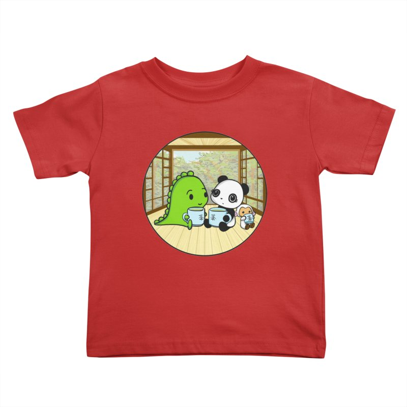 Japanese Tea House Kids Toddler T-Shirt by Dino & Panda Inc Artist Shop