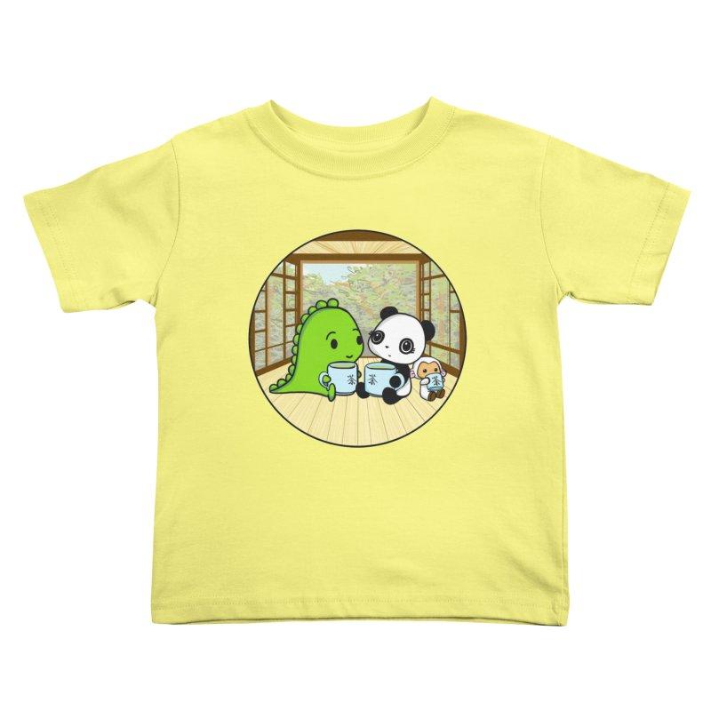 Japanese Tea House Kids Toddler T-Shirt by Dino & Panda Inc Artist Shop