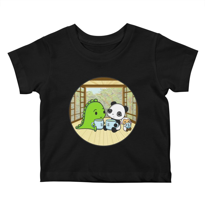 Japanese Tea House Kids Baby T-Shirt by Dino & Panda Inc Artist Shop