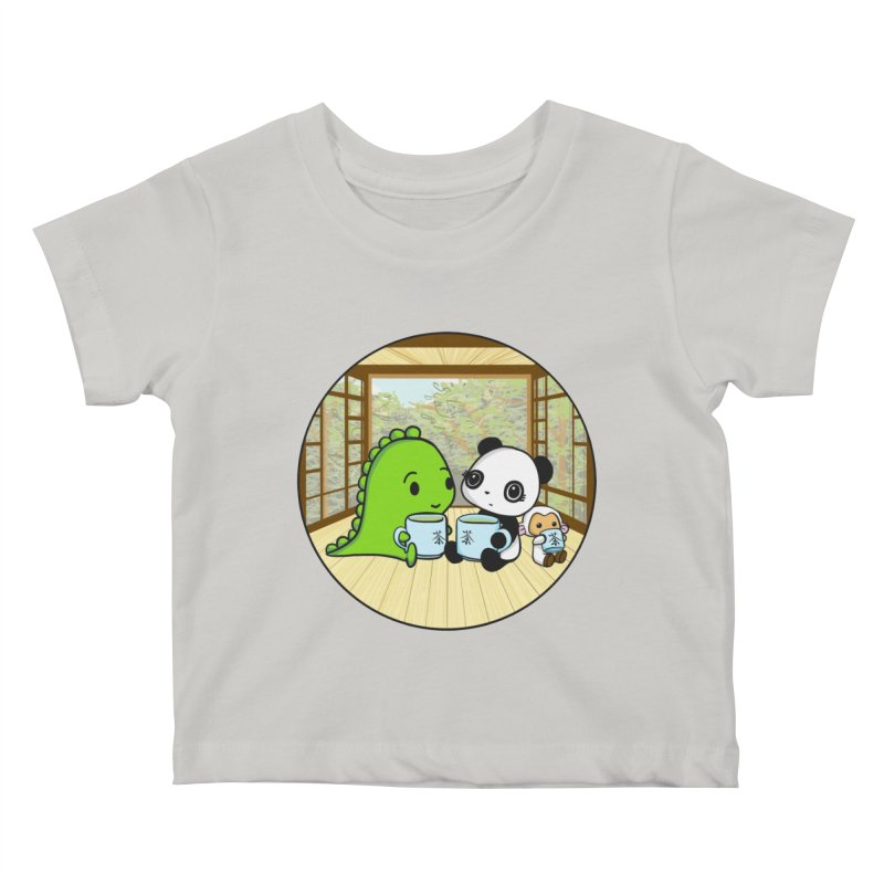 Japanese Tea House Kids Baby T-Shirt by Dino & Panda Inc Artist Shop