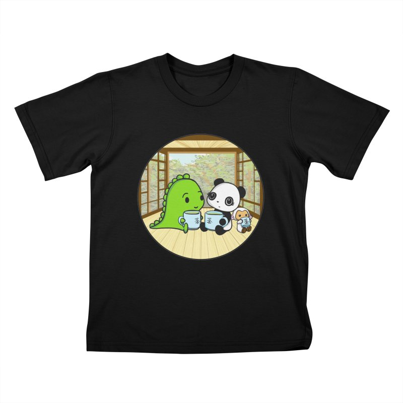 Japanese Tea House Kids T-Shirt by Dino & Panda Inc Artist Shop