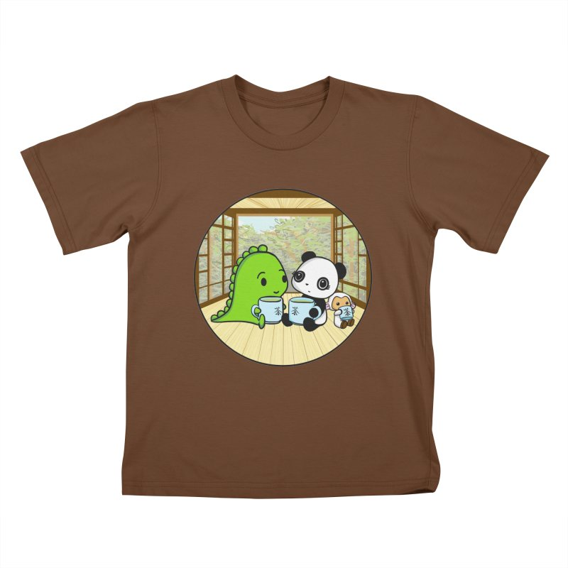 Japanese Tea House Kids T-Shirt by Dino & Panda Inc Artist Shop