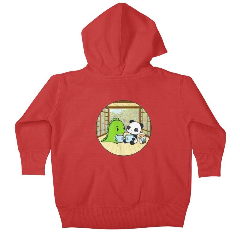 Japanese Tea House Kids Baby Zip-Up Hoody by Dino & Panda Inc Artist Shop