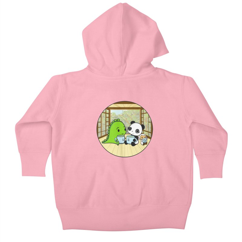 Japanese Tea House Kids Baby Zip-Up Hoody by Dino & Panda Inc Artist Shop