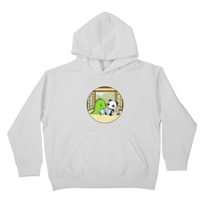 Japanese Tea House Kids Pullover Hoody by Dino & Panda Inc Artist Shop