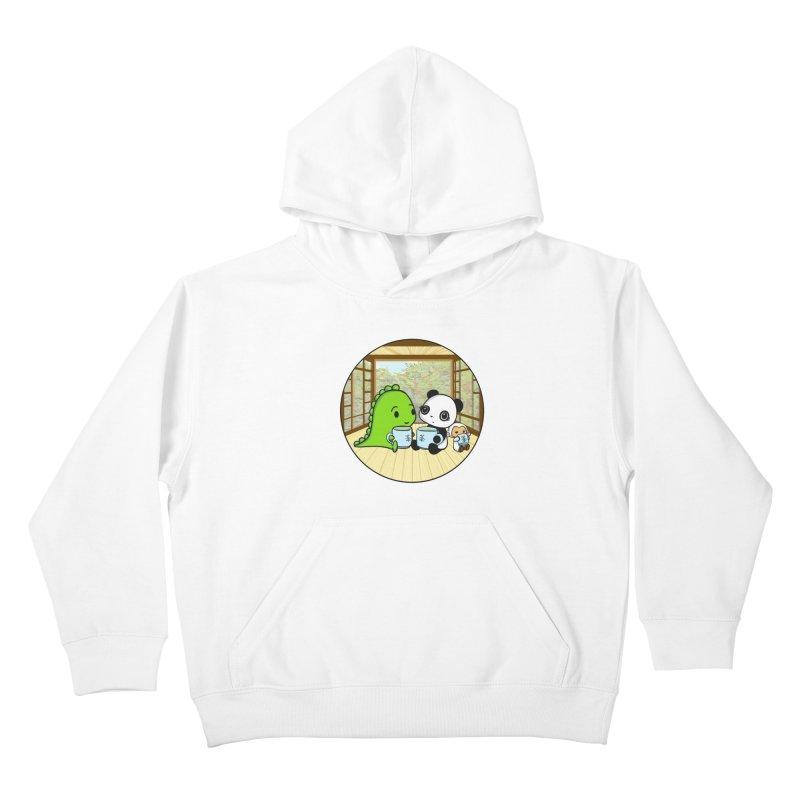 Japanese Tea House Kids Pullover Hoody by Dino & Panda Inc Artist Shop