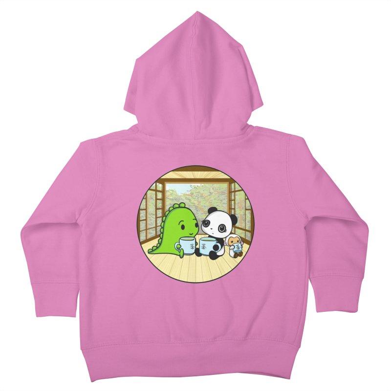 Japanese Tea House Kids Toddler Zip-Up Hoody by Dino & Panda Inc Artist Shop