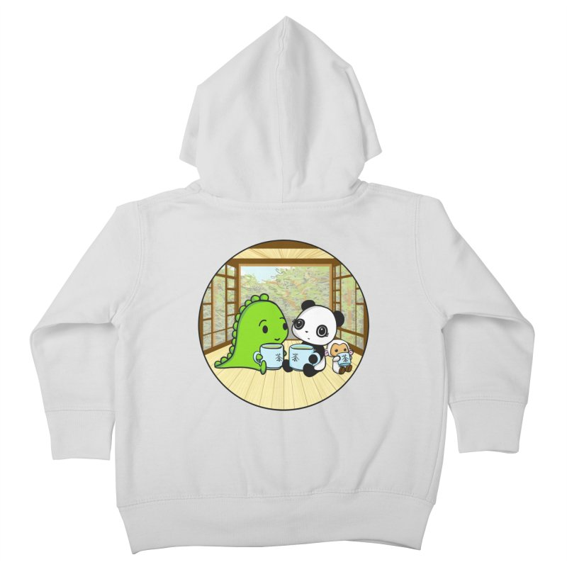 Japanese Tea House Kids Toddler Zip-Up Hoody by Dino & Panda Inc Artist Shop