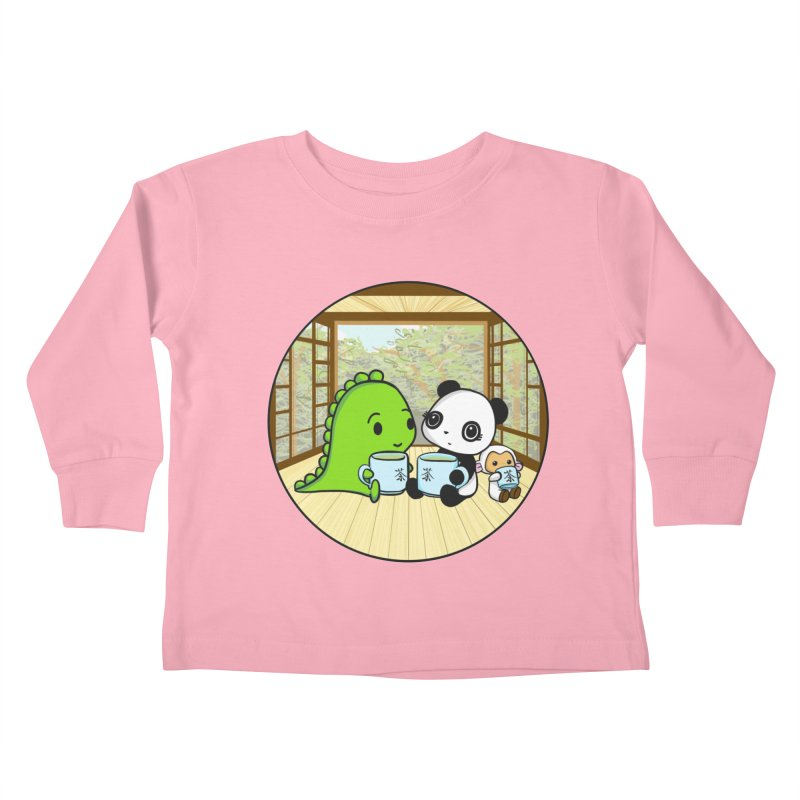 Japanese Tea House Kids Toddler Longsleeve T-Shirt by Dino & Panda Inc Artist Shop