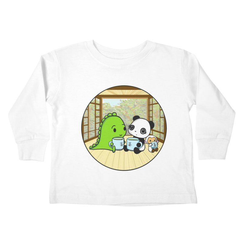 Japanese Tea House Kids Toddler Longsleeve T-Shirt by Dino & Panda Inc Artist Shop