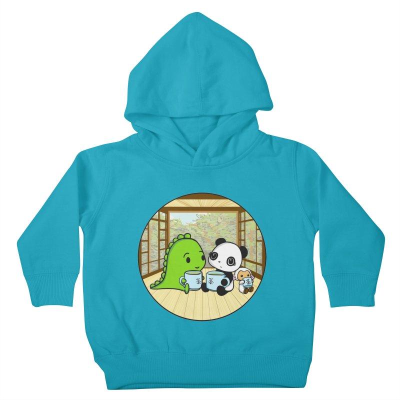 Japanese Tea House Kids Toddler Pullover Hoody by Dino & Panda Inc Artist Shop