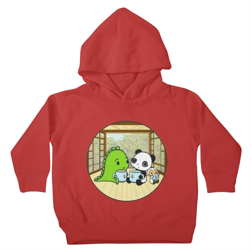 Japanese Tea House Kids Toddler Pullover Hoody by Dino & Panda Inc Artist Shop