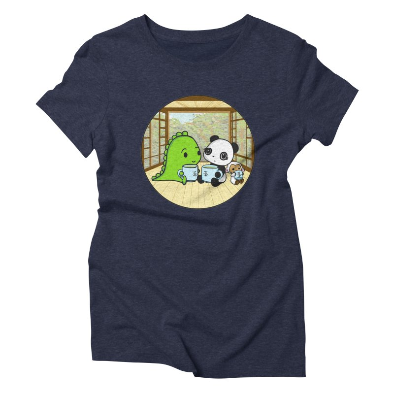 Japanese Tea House Women's Triblend T-Shirt by Dino & Panda Inc Artist Shop