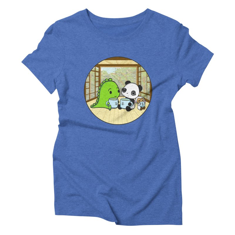 Japanese Tea House Women's Triblend T-Shirt by Dino & Panda Inc Artist Shop