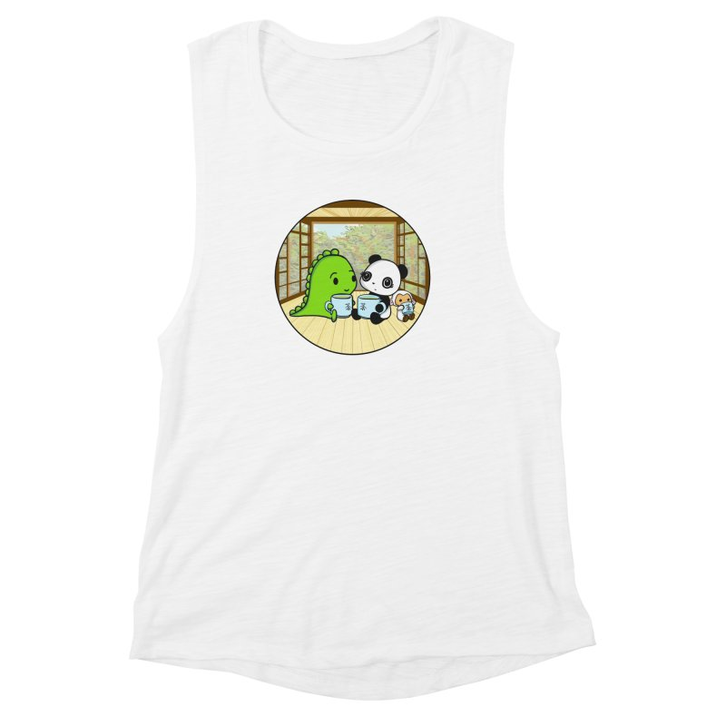 Japanese Tea House Women's Muscle Tank by Dino & Panda Inc Artist Shop
