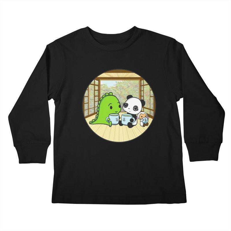 Japanese Tea House Kids Longsleeve T-Shirt by Dino & Panda Inc Artist Shop